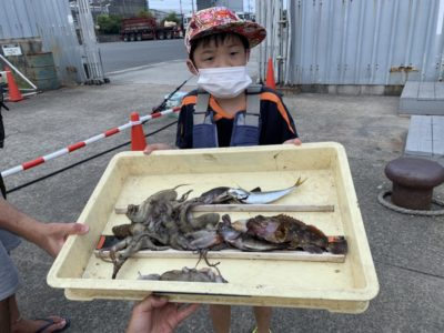 <p>竹村様 旧一文字3番 タコはタコジグでの釣果です♪エビ撒きでアジ・ガシラ・メバルもGET♪おめでとうございます(^o^)</p>