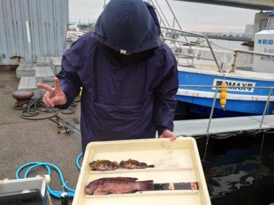 <p>沖の北 探り釣りでカンダイとガシラ!</p>