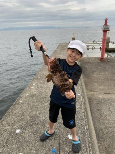 <p>中本様 沖の北 のませ釣り(サバ)で38cmのアコウ!!おめでとうございます!高級魚GETです♪♪</p>