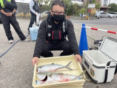 <p>石田様 沖の北 ショアジギでサゴシ・メジロ GET!!!</p>
