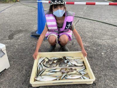 <p>沖の北 サビキ釣りで豆アジ〜中アジ・ウルメイワシ・ガシラ GET♪♪中アジは27cmあり美味しそう^ ^</p>